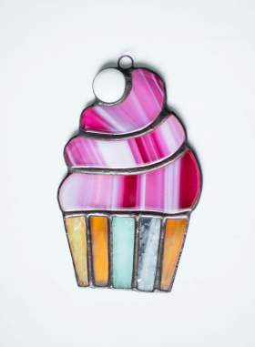 Muffins Stained Glass Suncatcher
