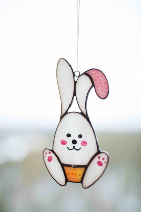 Easter Bunny Stained Glass Suncatcher