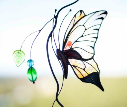 Butterfly Stained Glass Suncatcher