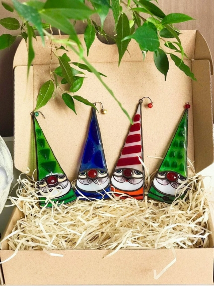 Gnome Stained glass Suncatcher
