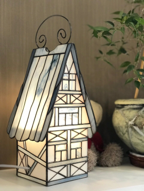 Stained Glass House lamp Decor for bedroom, living room, children's room
