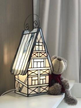 Stained Glass House lamp Decor for bedroom, living room, children's room